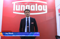 Jay Shah, MD, Tungaloy India speaks about the new products at IMTEX