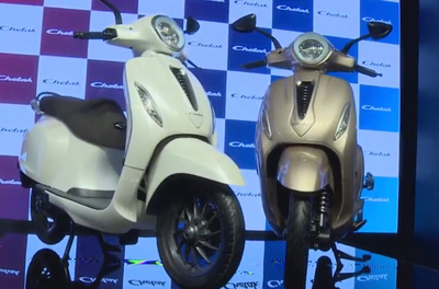 Bajaj Auto has introduced its first EV in the form of the iconic Chetak electric scooter.