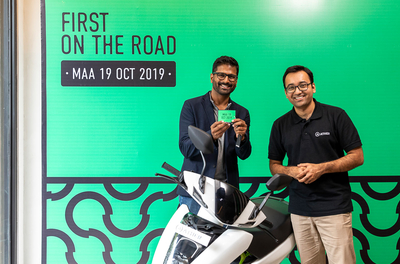 Ather 450 electric scooter hits the road
