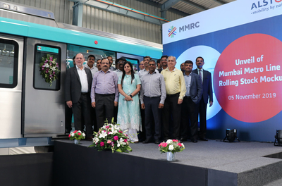 Alstom and MMRC unveil life-sized mock-up of Mumbai Metro Line 3 rolling stock