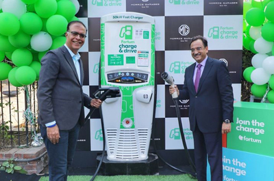MG Motor India and Fortum install 50 kW DC fast charging station in Gurugram