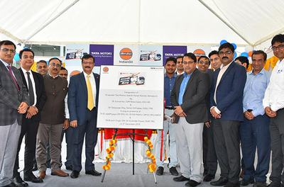 Tata Motors, IndianOil launch Saarthi Aaram Kendra at Narsapura