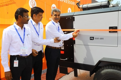 Elgi Equipments launches portable air compressors at EXCON 2019