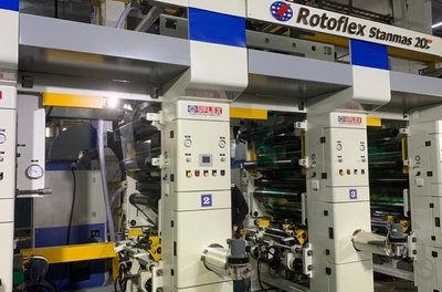 UFlex demonstrates a Rotogravure Printing Press designed to print on aluminium foil