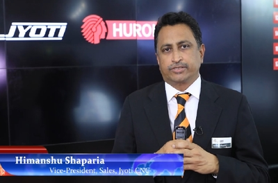 Himanshu Shaparia, Vice-President, Sale, Jyoti CNC talks about their new products at IMTEX