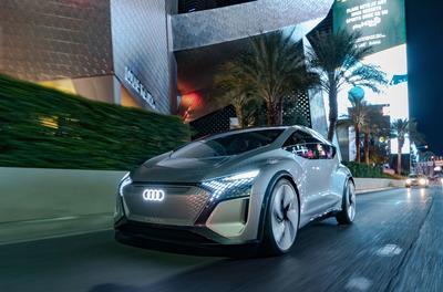 Audi displays autonomous smart car – AI:ME at CES 2020