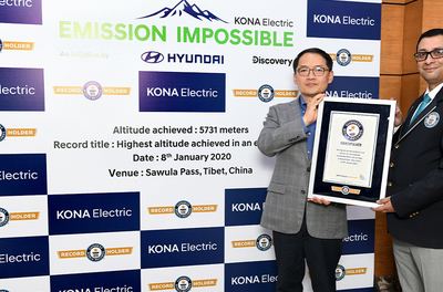 Hyundai KONA electric makes it to GUINNESS WORLD RECORDS™ feat