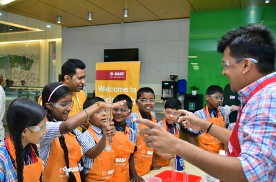 BASF Kids' Lab inspires students to bond together with chemistry