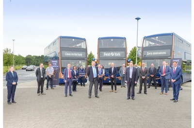Optare delivers first of 21 battery-electric Metrodecker EV with First York