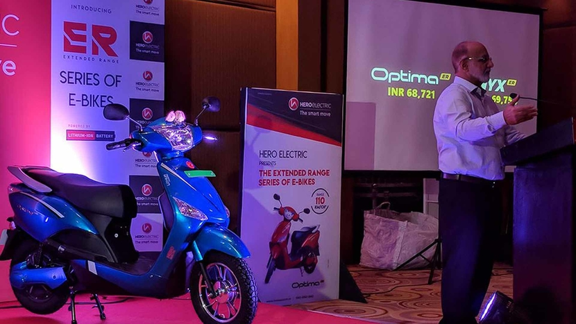 Hero Electric, Electric scooters, Optima ER, Nyx ER, Sohinder Gill, Lithium-ion batteries, Bengaluru, E-scooters, B2B sector
