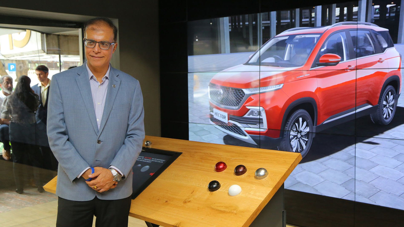MG Motor India, Showroom with no car, Rajeev Chaba, Future of automobile retail, Hector, AI-based Human Recognition