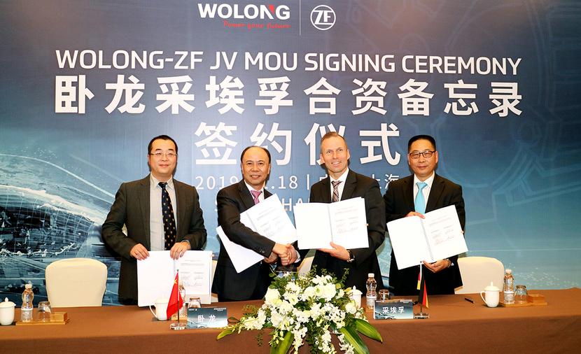 Wolong Electric, Jian Cheng Chen, Dr. Holger Klein, ZF Friedrichshafen, Wolong ZF Automotive, Jörg Grotendorst