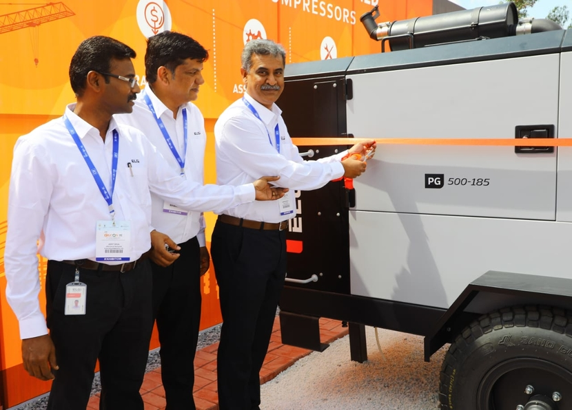 Elgi Equipments, Air compressors, EXCON 2019, Ramesh Ponnuswami