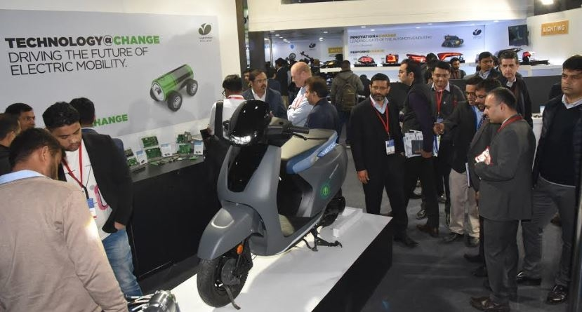 Varroc Engineering, Auto Components Expo, Electric scooter, Battery management, Battery management system, Telematics solutions, Lightweighting, Car headlamp housing, Fuel efficiency, Tarang Jain