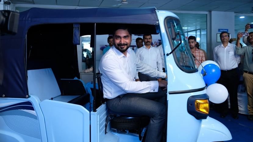 Piaggio Vehicles, Electric vehicles, Ape' E-City, Vijayawada market, Saju Nair, Zero emission, Transforming India, Sun Mobility, Li-ion batteries, Automatic gear box, Smart swappable batteries