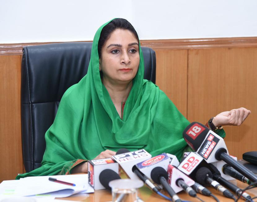 Union Minister of Food Processing Industries Harsimrat Kaur Badal