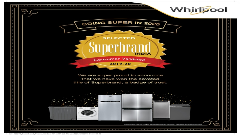 Whirlpool, Superbrands 2019-20, Superbrands Council, Faridabad, Pune, Pondicherry, KG Singh, Plans for 2020