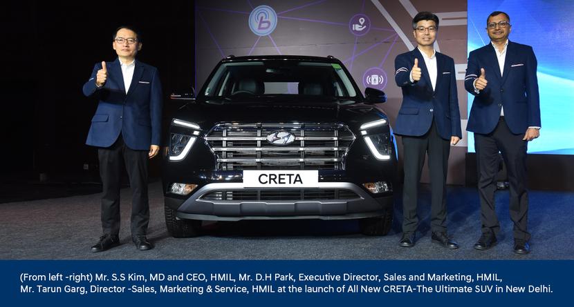 Hyundai, All New Creta, Creta, Hyundai Creta, S S Kim, Hyundai Motor India, Hyundai Global Design Philosophy, Next Gen BS6 Powertrain