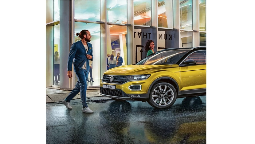 Volkswagen India, T-Roc, Integrated LED headlights, ABS, ESC, Safety optimized front headrests, Tyre pressure monitoring system, Steffen Knapp, Cylinder Technology, WeConnect Go