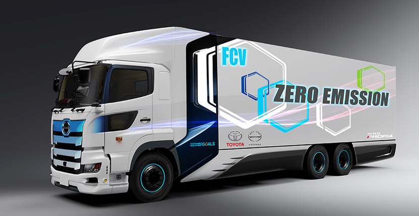 Toyota Motor Corporation, Hino Motors, Heavy-duty fuel cell truck, CO2 emissions, Electrification of commercial vehicles, Fast refueling capability, Hino Profia, Fuel cell vehicle