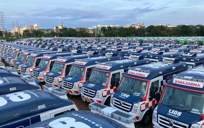 Prasan Firodia, Force Motors, COVID screening facilities, Govt of Andhra Pradesh, Advanced Life Support Ambulance, Basic Life Support Ambulance, National Ambulance Code