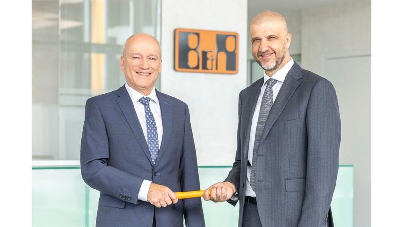 Peter Gucher, B&R Automation, Luca Galluzzi, B&R CEO Hans Wimmer