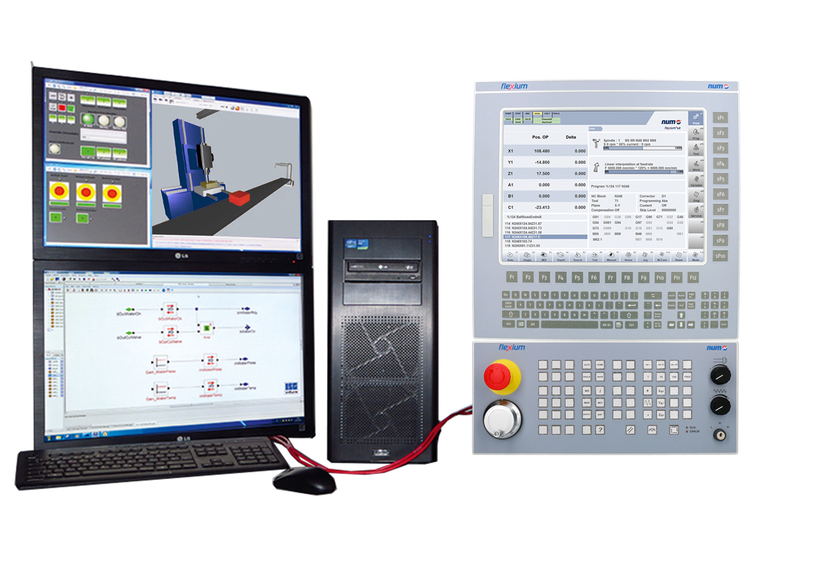 CNC specialist, NUM, Digital twin technology, Machine tool manufacturers, Industry 4.0 simulation techniques, Pairing technology, NASA, Space exploration, Simulation, Machine learning techniques, Open-architecture Flexium+ CNC platform, Flexium+ controller, EtherCAT, Pneumatic cylinders, CODESYS Depictor software tool, CODESYS GmbH